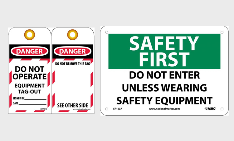 Safety Signs - Lockout Tagout - Labels
