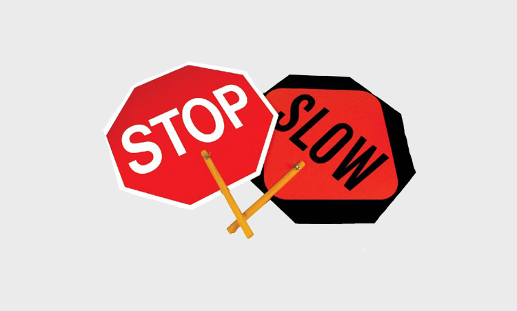 Stop / SlowPaddle Signs