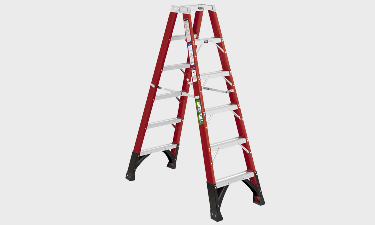 Double Step Fiberglass Ladders