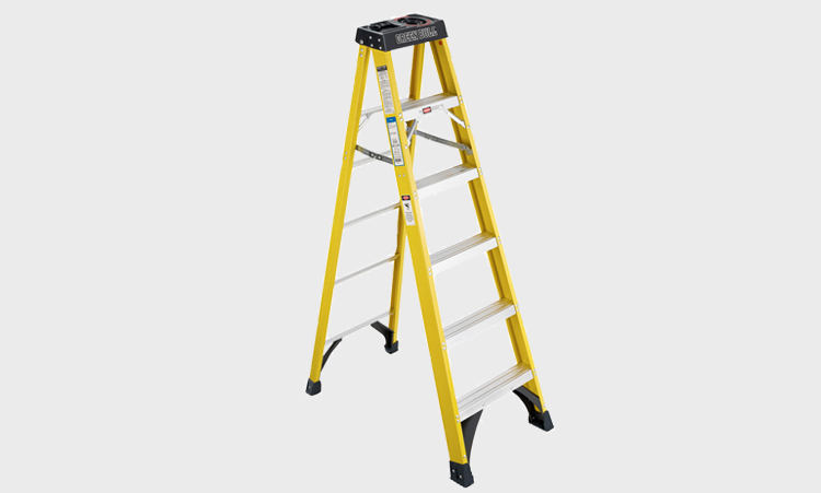 Single Step Fiberglass Ladders